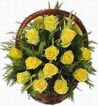 Yellow Roses in Basket